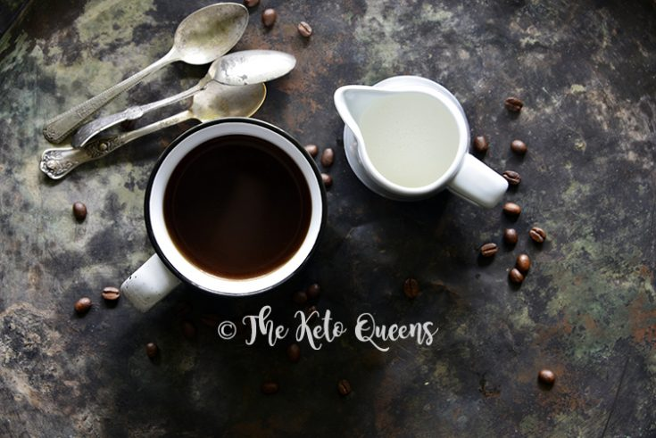 landscape of coffee and creamer with spoons