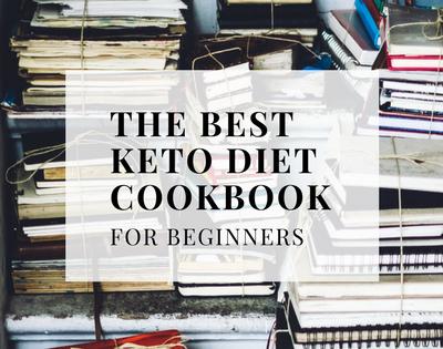 Image of keto cookbooks piled high. The Best Keto Diet Cookbook for beginners