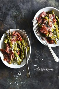 Keto One-Skillet Balsamic-Glazed Sautéed Asparagus with Bacon Vertical