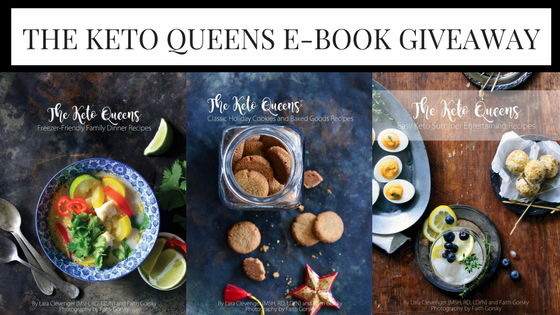Enter to win one copy of each of The Keto Queens 4 ebooks.