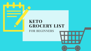 Post title of a beginner keto grocery list