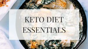 keto diet recipe fish and spinach in a cast iron skillet
