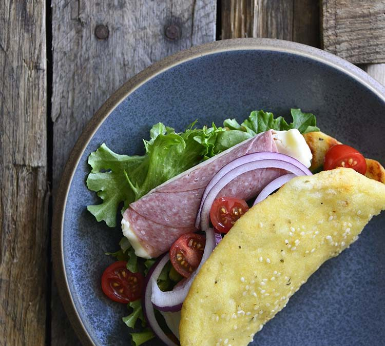 Keto Wrap-Style Soft Tortilla Flatbread