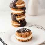 Low Carb Chocolate Peanut Butter Cookie Sandwiches From Peace Love and Low Carb