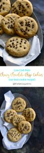 Low Carb Keto Chewy Chocolate Chip Cookies Long Pin
