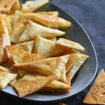 Front View of Low Carb Keto Tortilla Chips