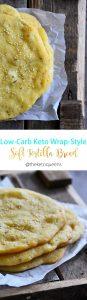 Low Carb Keto Wrap Style Soft Tortilla Bread