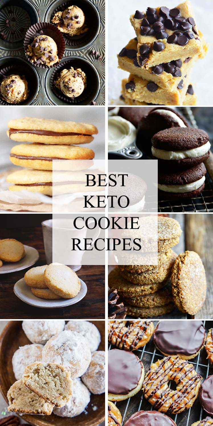 best keto cookie recipes collage