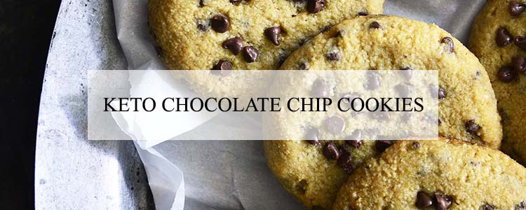 keto chocolate chip cookies banner
