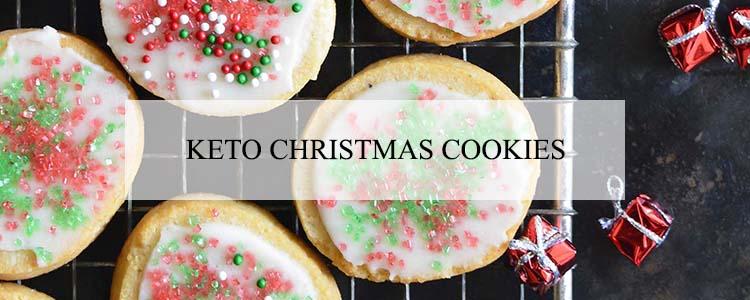 keto christmas cookies banner
