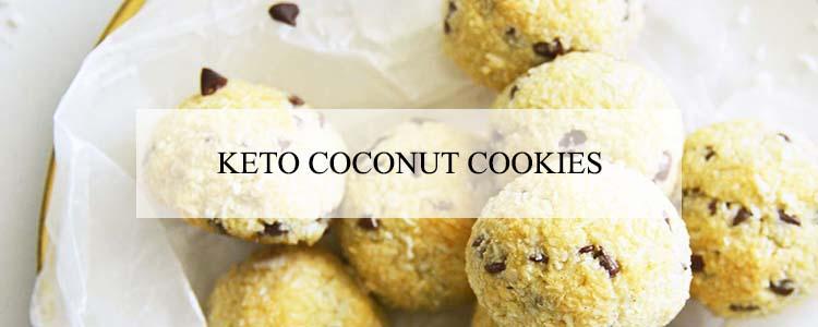 keto coconut cookies banner