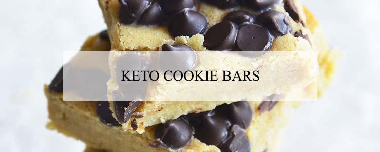 keto cookie bars banner