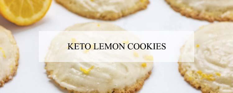 keto lemon cookies banner