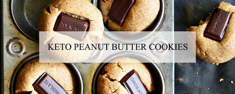 keto peanut butter cookies banner