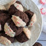 keto peppermint dipped chocolate cookies from homemade heather