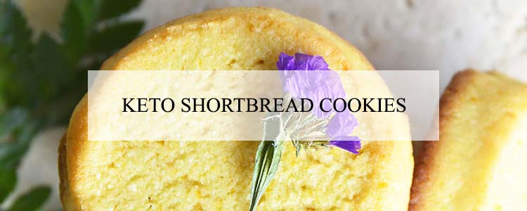 keto shortbread cookies banner