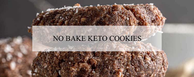 no bake keto cookies banner