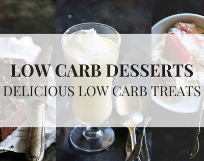 The best low carb desserts delicious low carb treats text over 3 images of treats