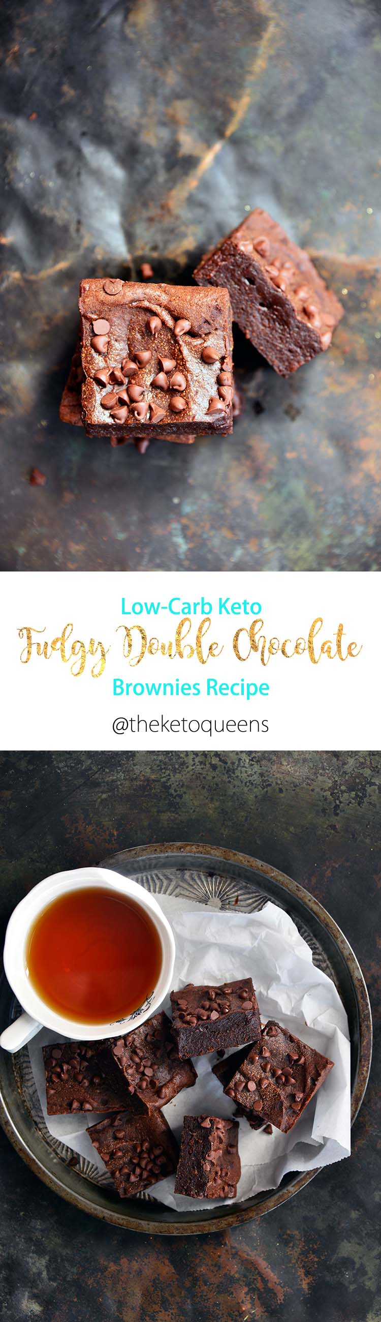 Low Carb Keto Fudgy Double Chocolate Brownies Recipe