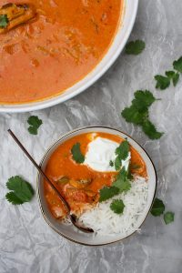 fish tikka masala with sardines
