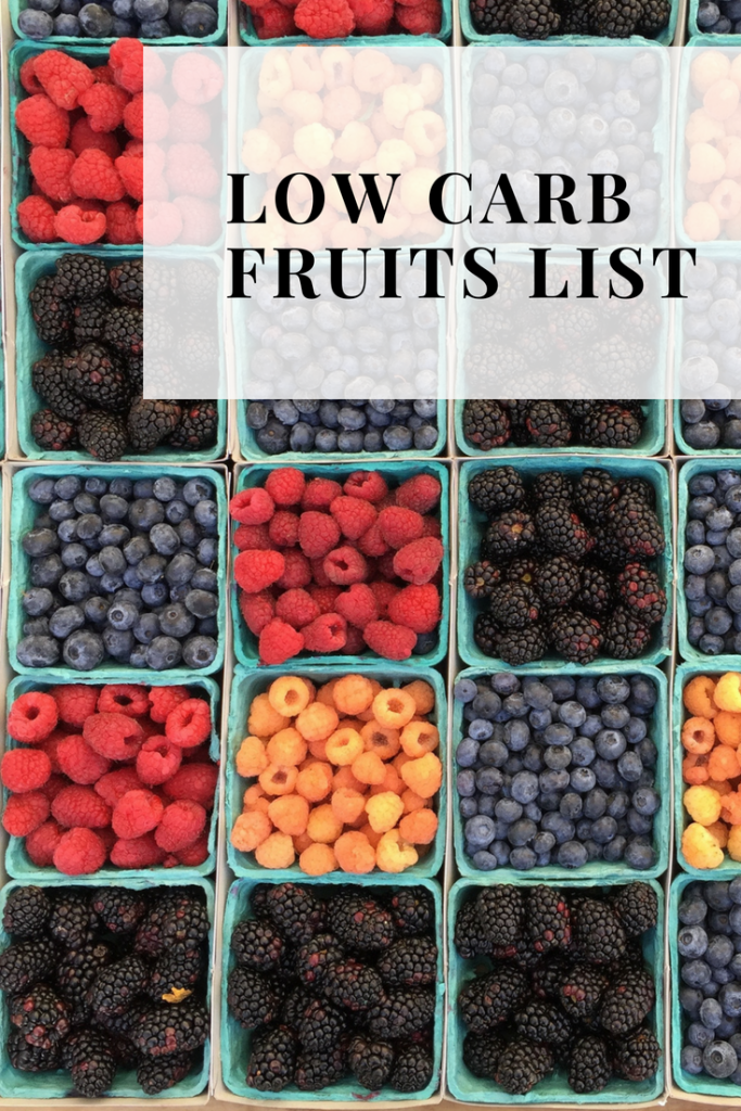 LOW CARB FRUITS LIST