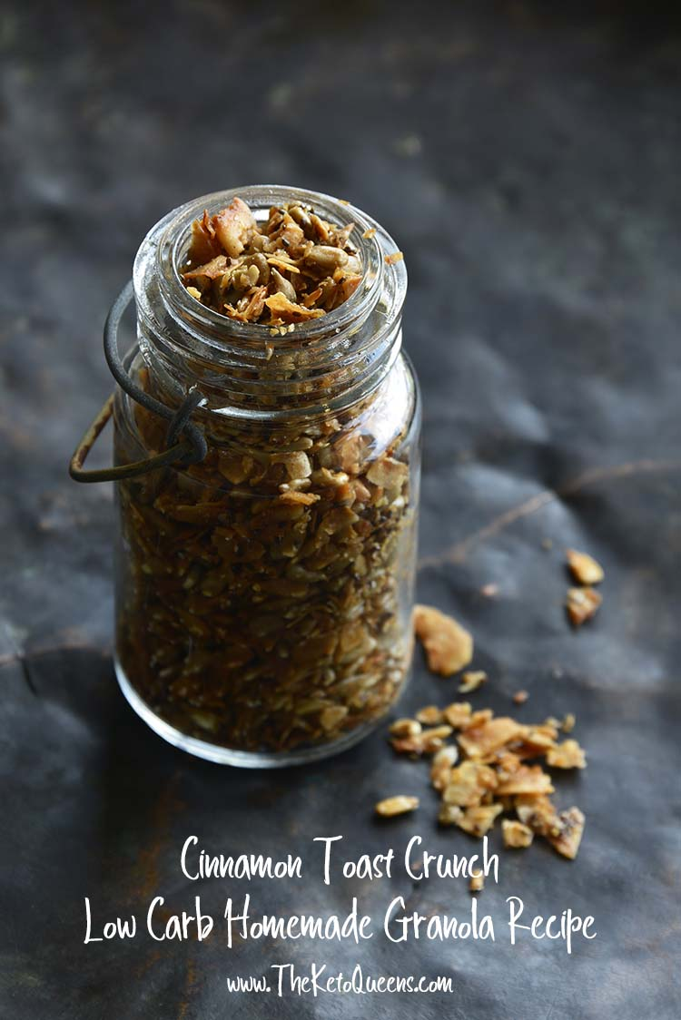 Cinnamon Toast Crunch Low Carb Homemade Granola Recipe with Description