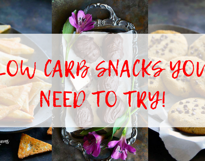 The Best Low Carb Snacks You Need to Try text over 3 images of snacks