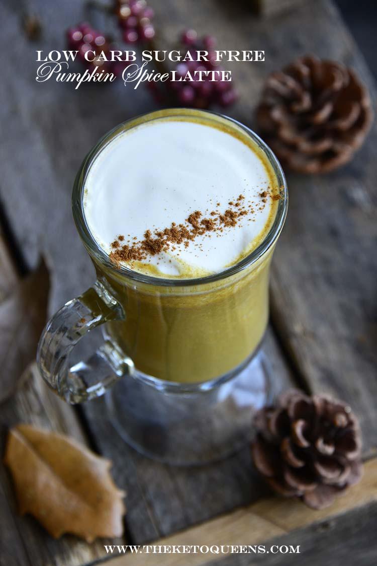 Low Carb Sugar Free Pumpkin Spice Latte with Description