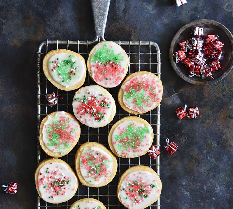 Keto Christmas Sugar Cookies with Icing