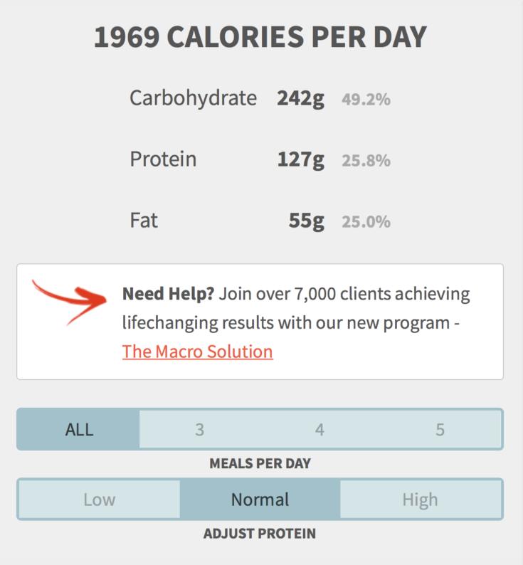 macro calculator - healthy eater macro calculator