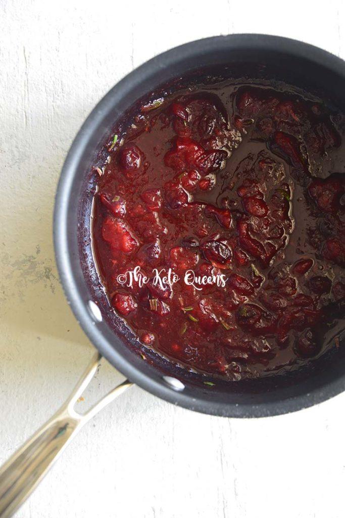 Turkey Sausage Meatballs with Sugar Free Cranberry Sauce