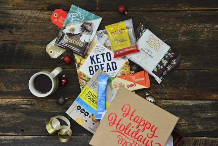 best keto stocking stuffer products collage image