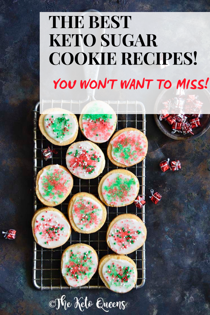 Today we're sharing the BEST KETO SUGAR COOKIE RECIPE ROUNDUP out on the internet. Just in time for you to WOW your family this holiday season! #keto #ketorecipes #ketocookies #lowcarbcookies #ketodesserts #lowcarbdesserts #sugarcookies #ketosugarcookies #bestsugarcookies