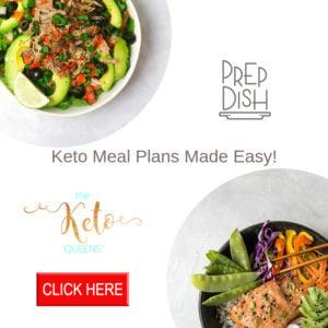 keto meal plans prep dish graphic