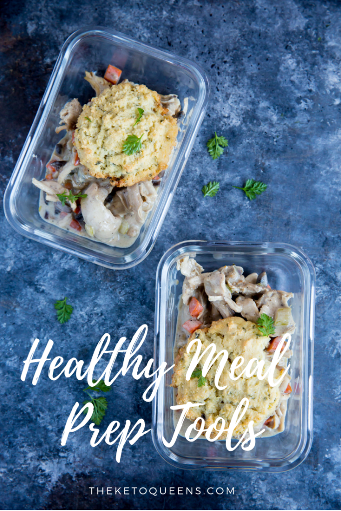 Today we're talking about Healthy Meal Prep Tools. You know we are huge fans of easy meal prep and today we're going over things we use to make meal prepping easier.