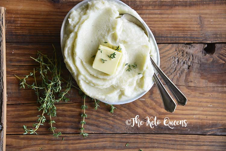 Low Carb Garlic Butter Mashed Cauliflower Recipe