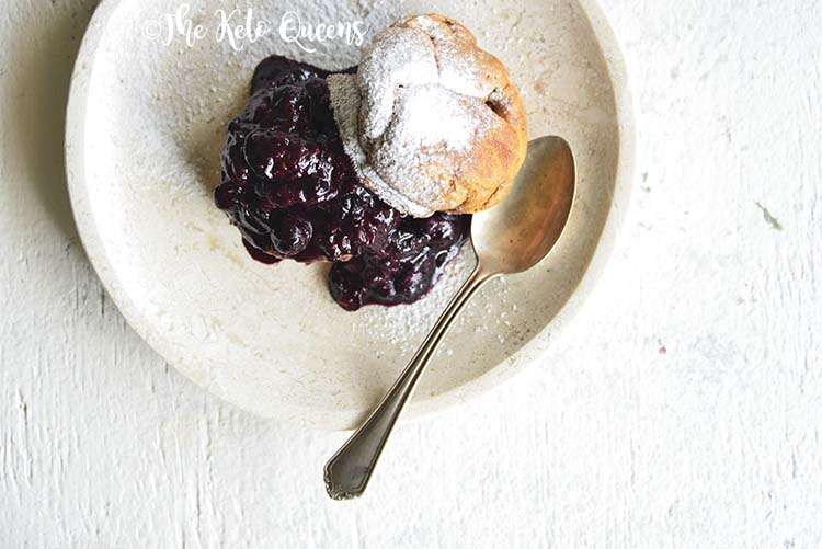 Low Carb Brioche Bread with Homemade Blueberry Sauce