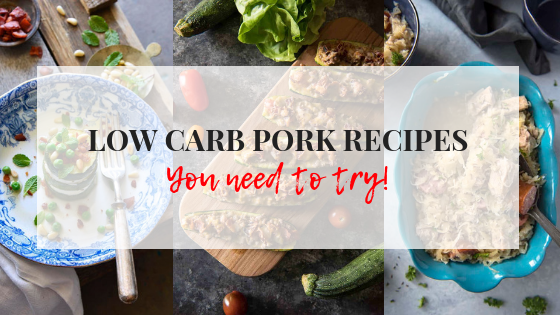 feature image title low carb PORK RECIPES