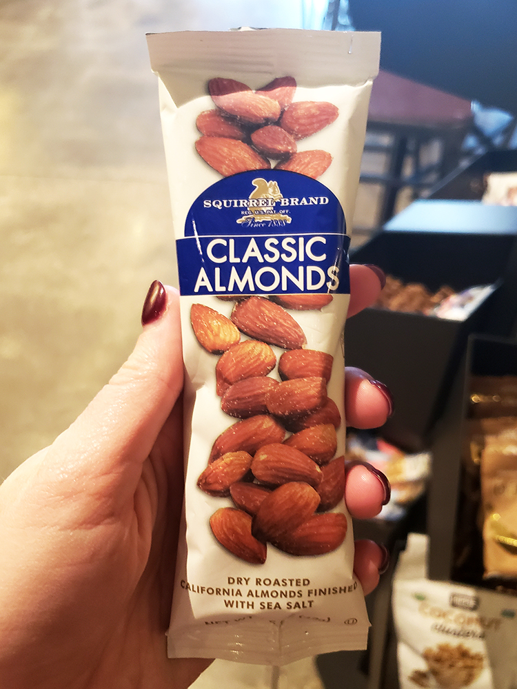 packaged almonds at starbucks