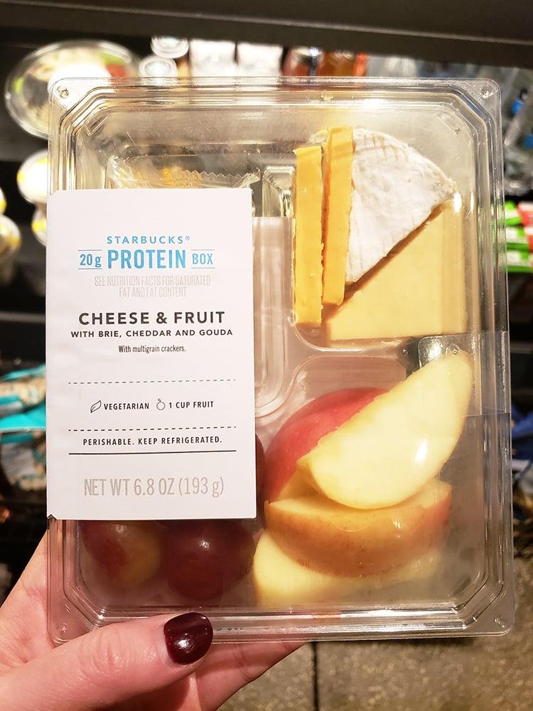 cheese and fruit box at starbucks