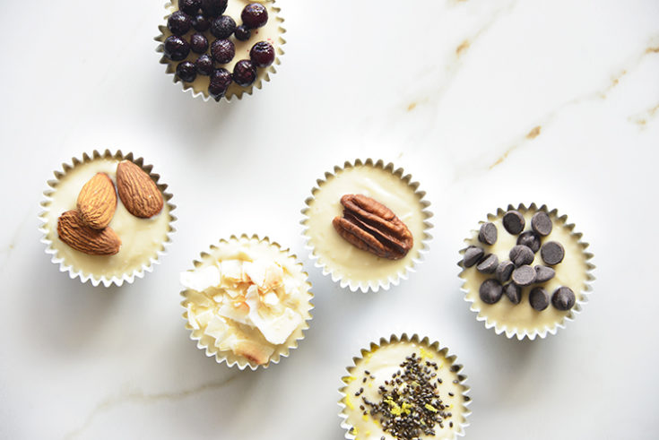 6 desserts in cupcake liners