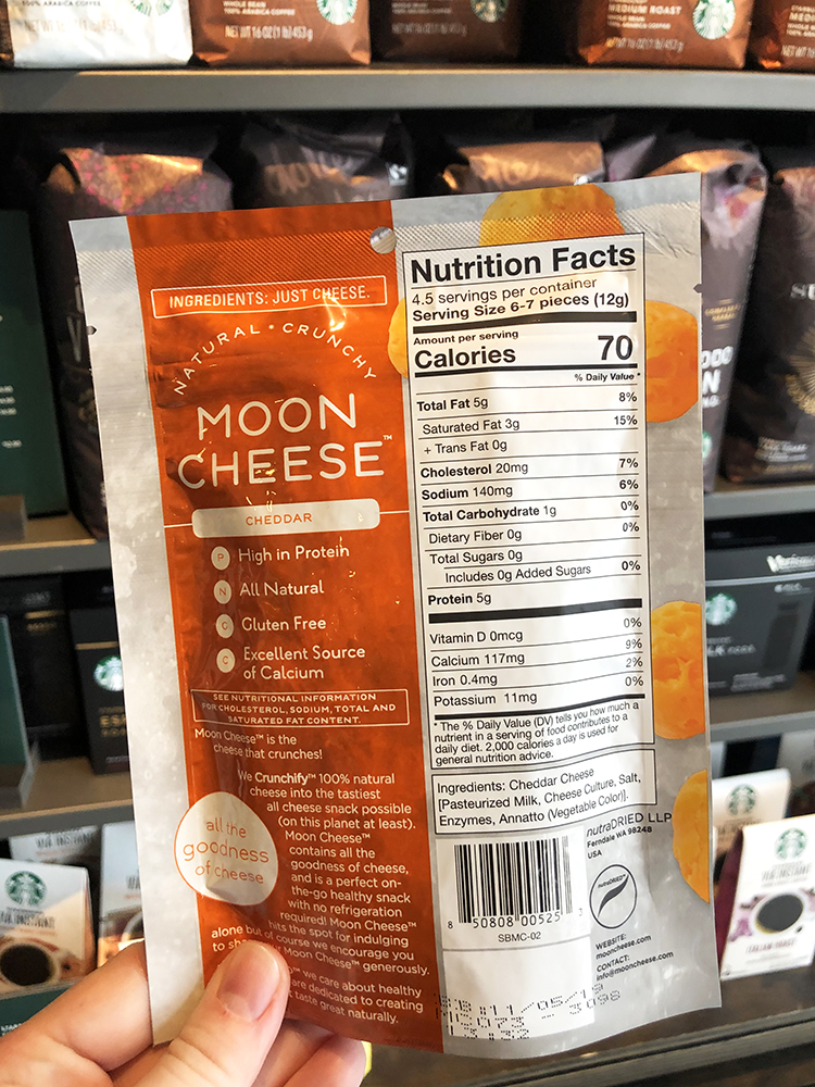 cheddar moon cheese nutrition label