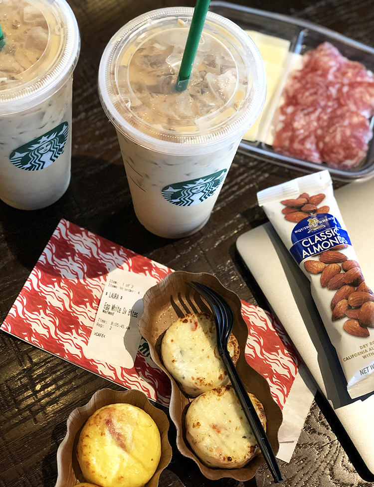spread of the best keto food at starbucks