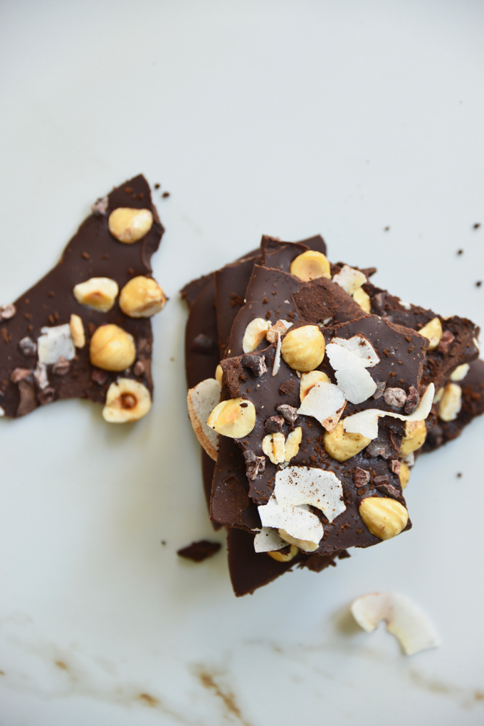 Coconut Hazelnut Espresso Chocolate Keto Bark.Our chocolate keto bark is just a snazzy keto chocolate bar, but it will totally impress all of your guests! It's super easy to make and you can switch up the flavor profiles to please even the pickiest of eaters!