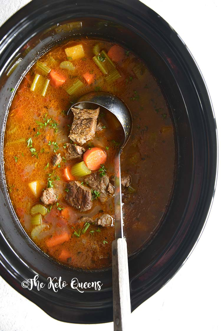 The Best Keto Beef Stew Crockpot Recipe The Keto Queens