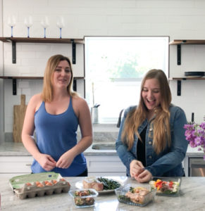 Lara and Faith The Keto Queens in White Kitchen
