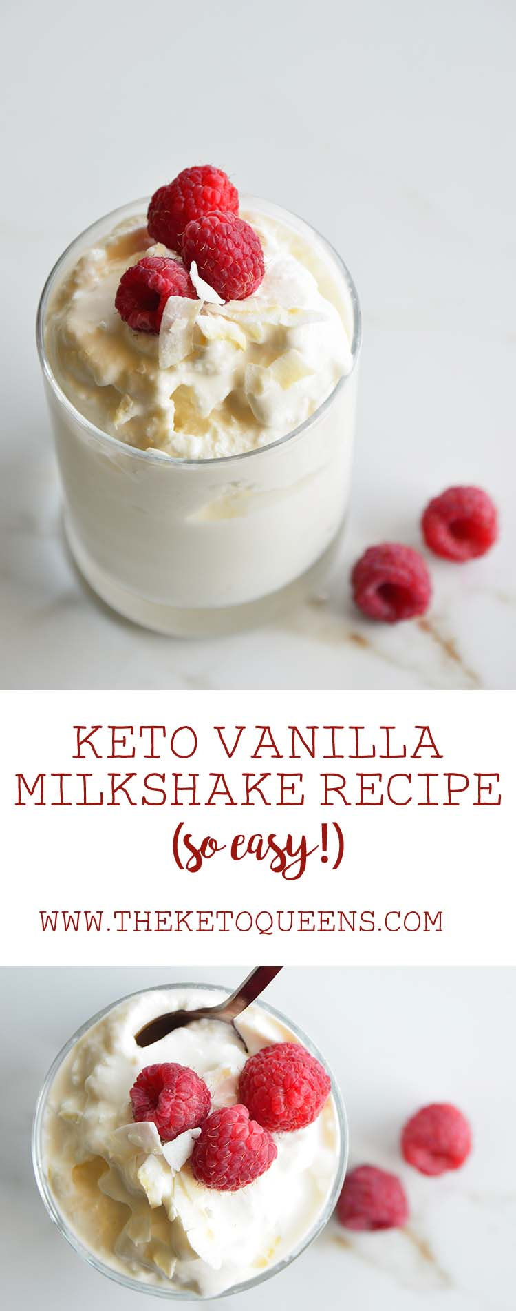 Keto Vanilla Milkshake Recipe Pin