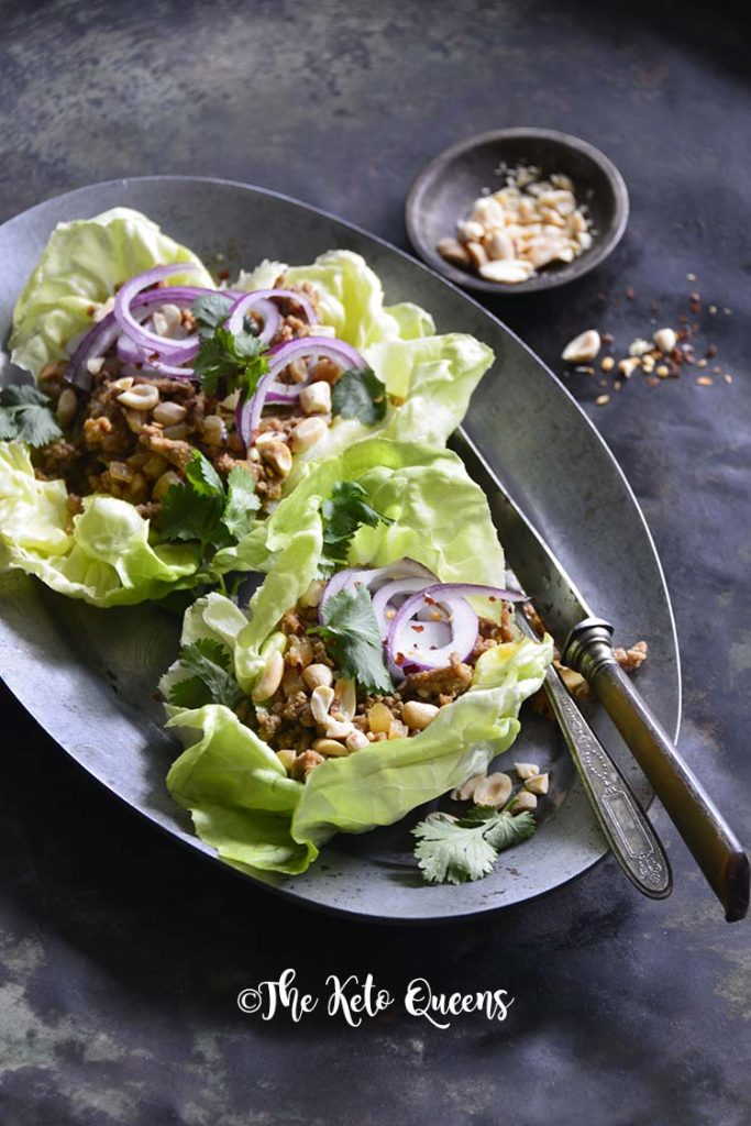 Quick and Easy Thai Turkey Lettuce Wraps.