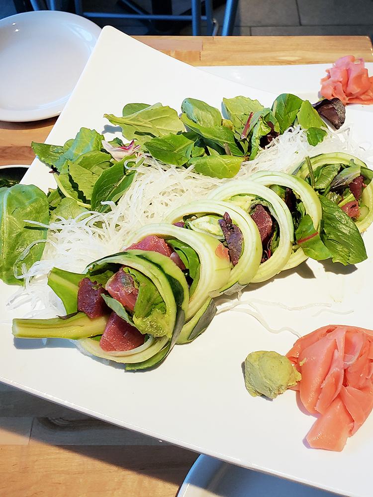 cucumber sushi roll at soho sushi