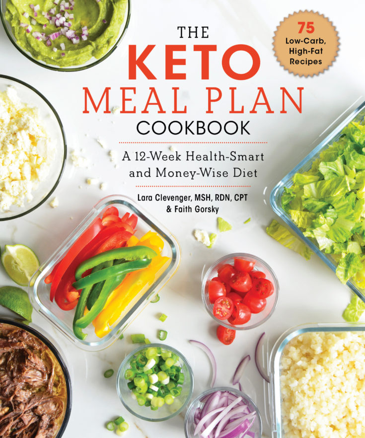 image of keto meal plan cook book